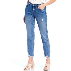 NWT Buffalo David Bitton Faith Frayed Hem Jeans